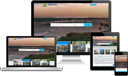Lennox Head Accommodation displayed beautifully on multiple devices