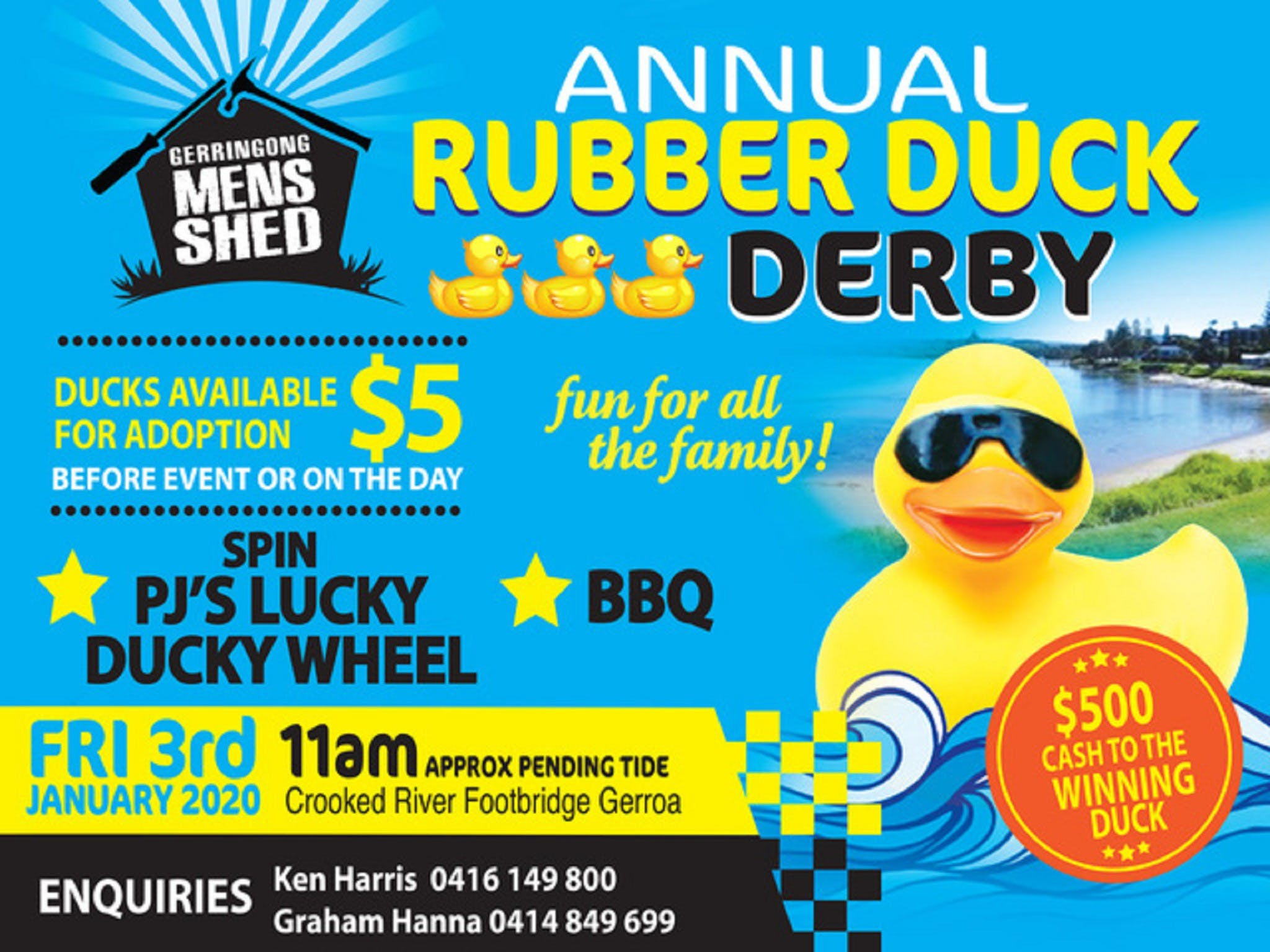 Gerringong Mens Shed Annual Duck Derby - Lennox Head Accommodation