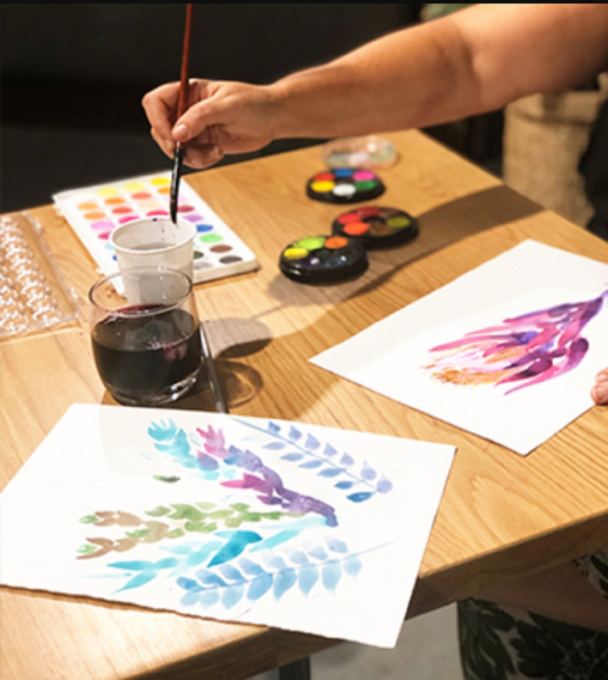Paint and Sip Class Watercolour and Wine - Lennox Head Accommodation