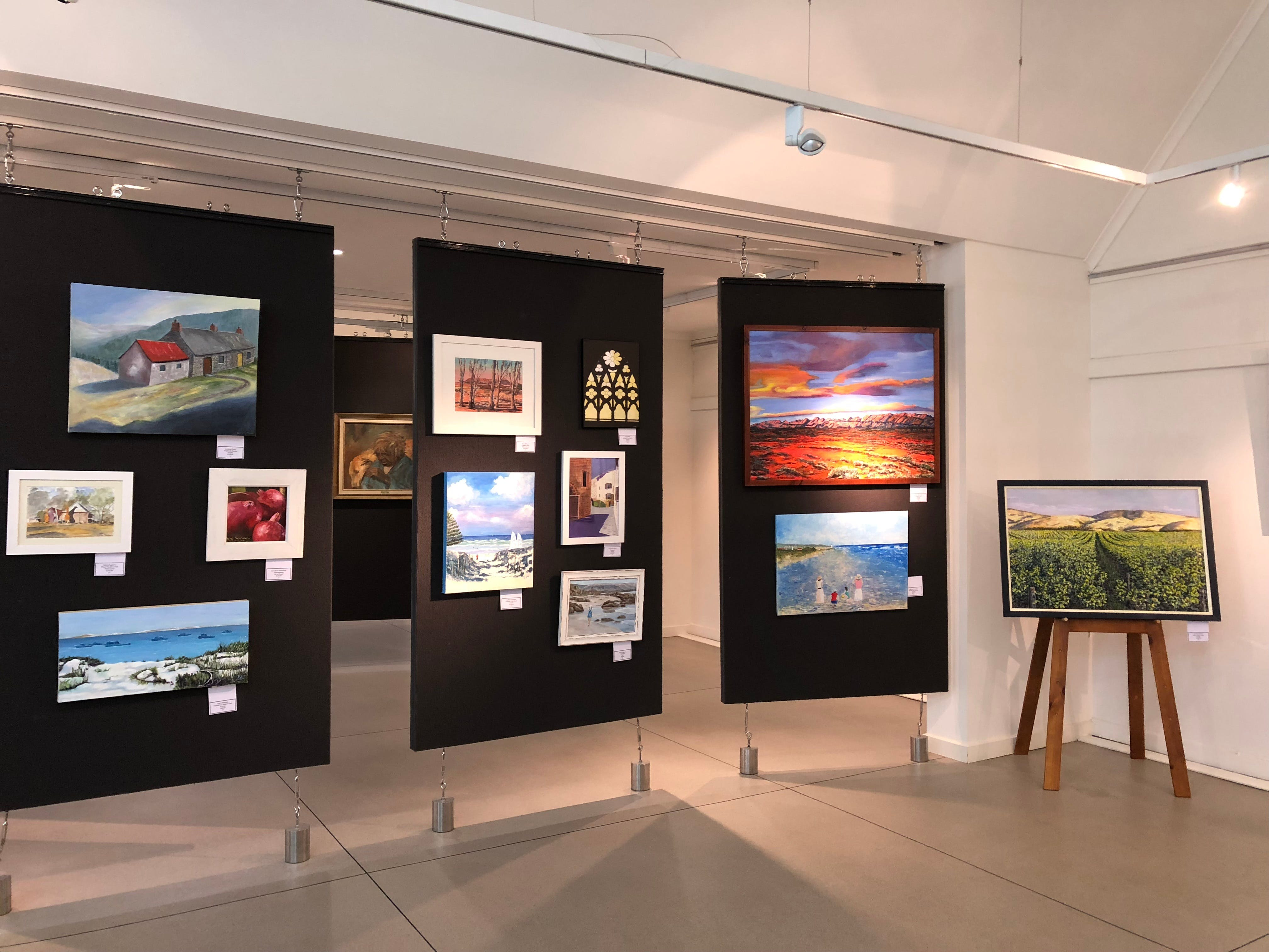 SALA 2020 exhibition at The Ascot Community Exhibition Art Gallery. - Lennox Head Accommodation